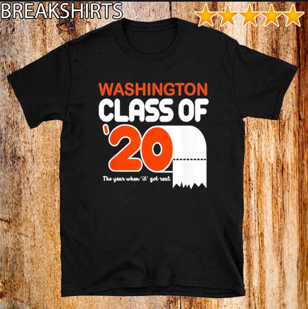 Class Of 2020 Toilet Paper Senior Washington For T-Shirt