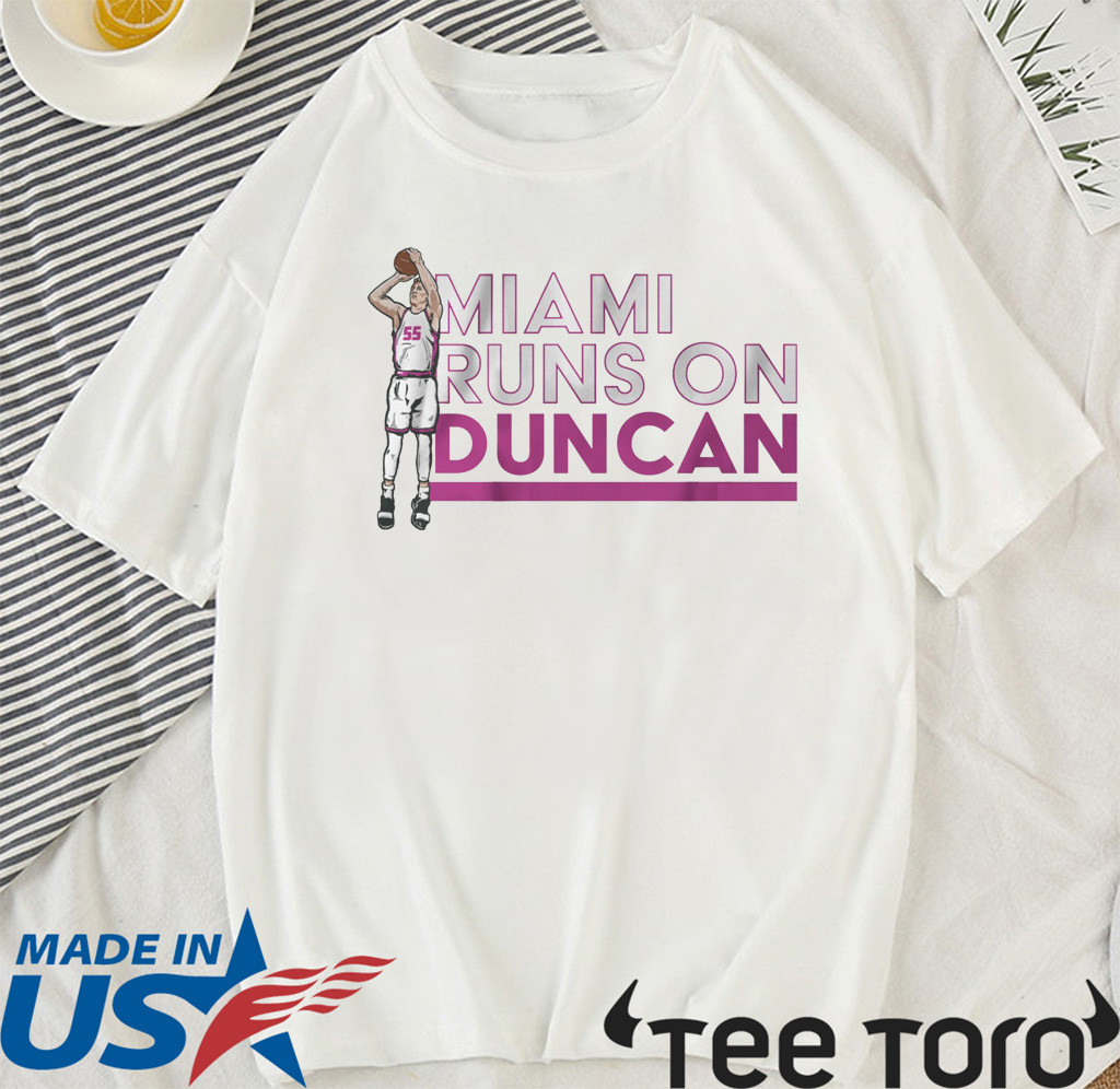 Duncan Robinson Shirt - Miami Runs on Duncan