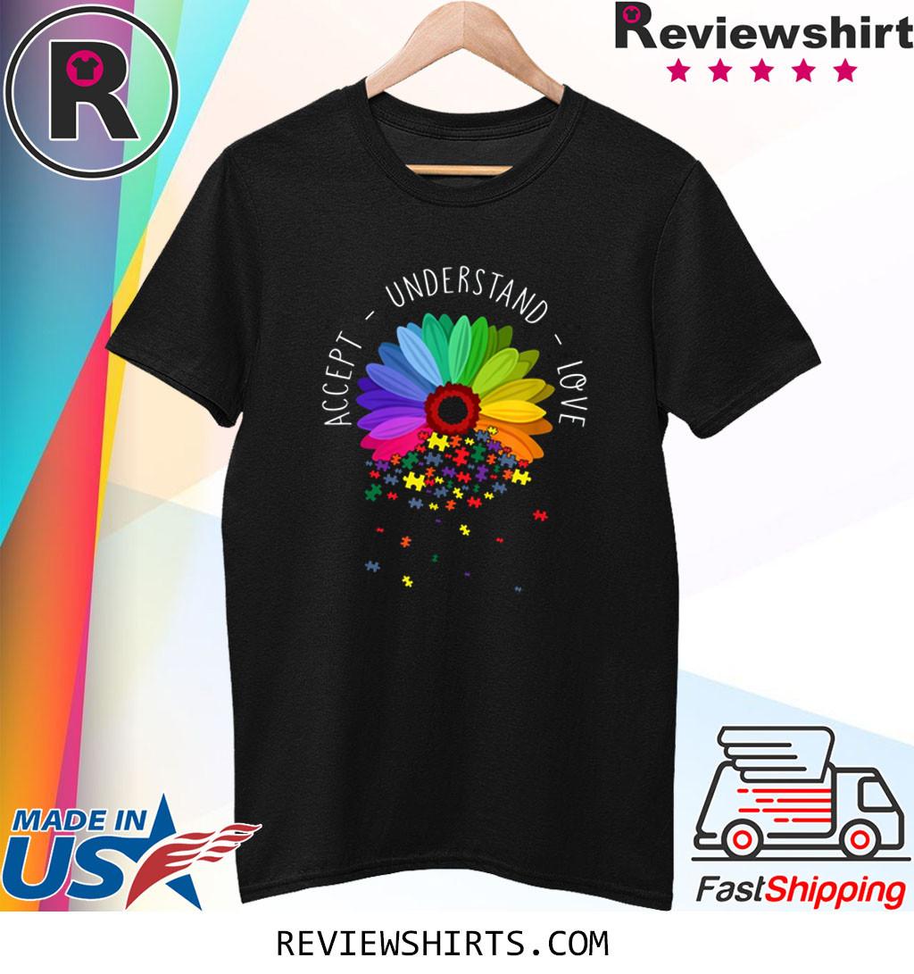 Floral Autism Awareness Daisy Flower T-Shirt