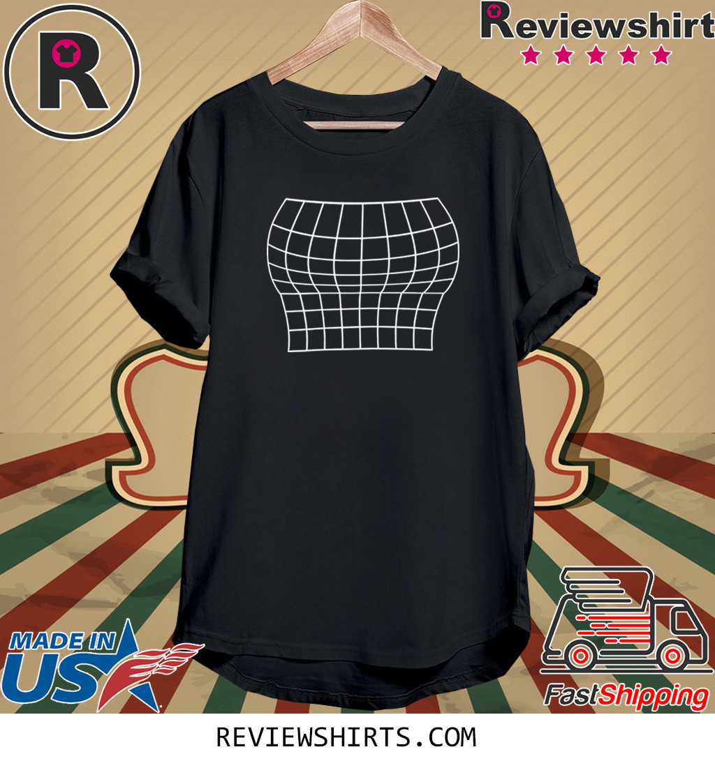 Grid Optical Illusion Large Bust Size Well Endowed Flat Shirt