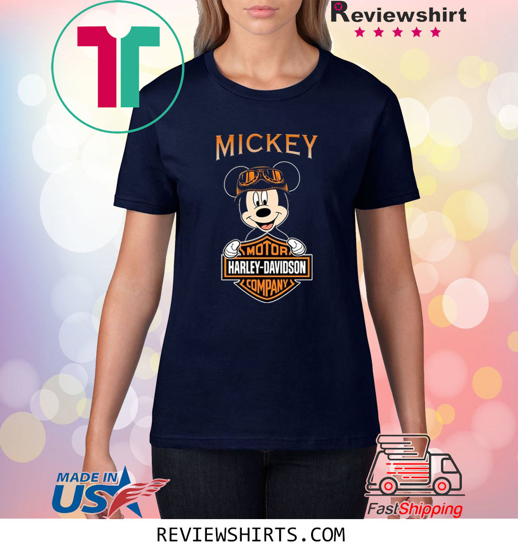 Mickey Harley Davidson Motor Company Shirt