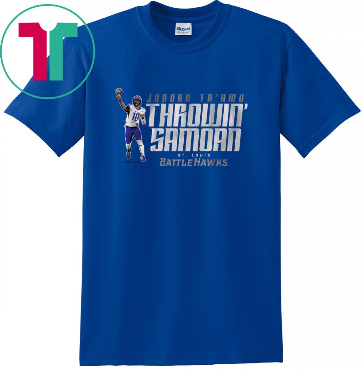THROWIN SAMOAN T-Shirt St. Louis Battlehawks