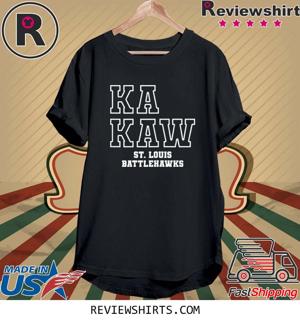 Official Battlehawks Football Ka Kaw St. Louis Tee Shirt