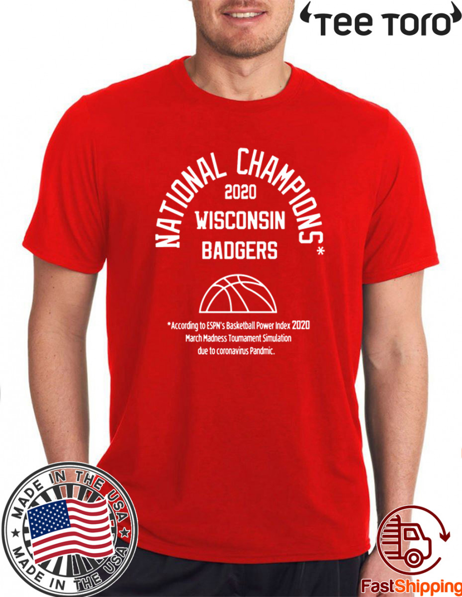 NATIONAL CHAMPIONS WISCONSIN BADGERS 2020 T-SHIRT
