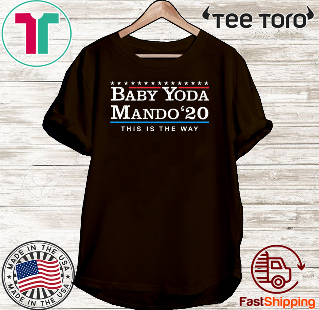 OFFICIAL BABY YODA MANDO THIS IS THE WAY 2020 T-SHIRT
