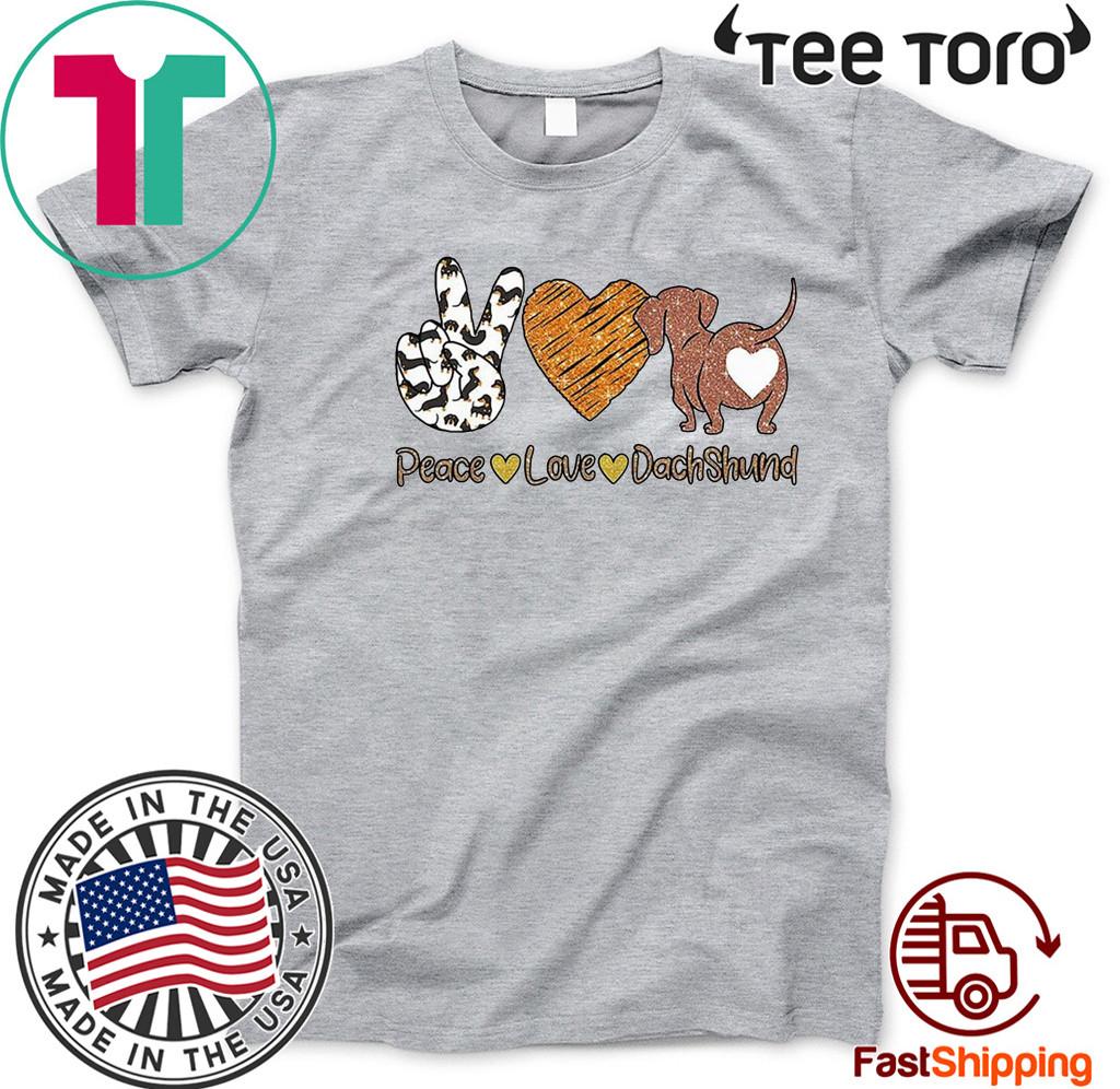 Peace Love PugDachhunds Shirt