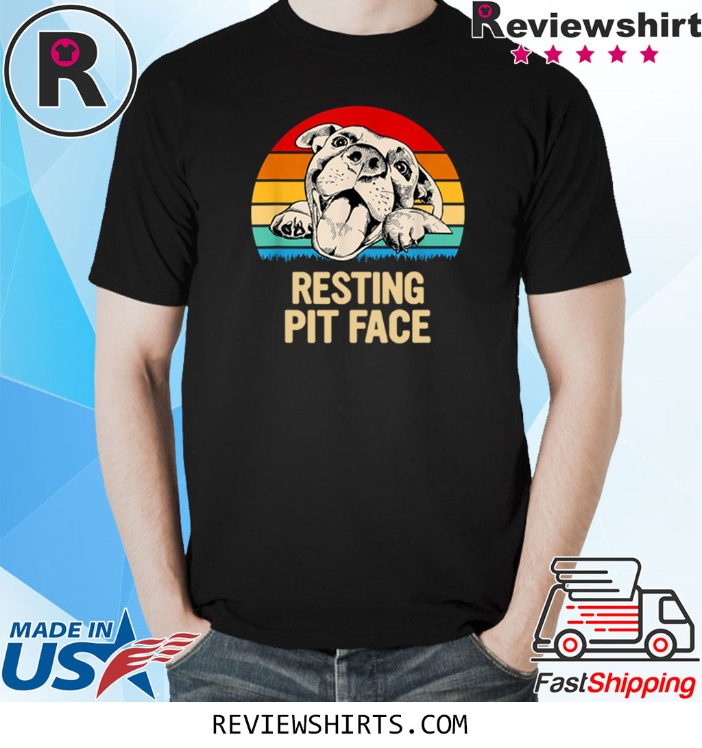 Pitbulls Resting Pit Face T-Shirt