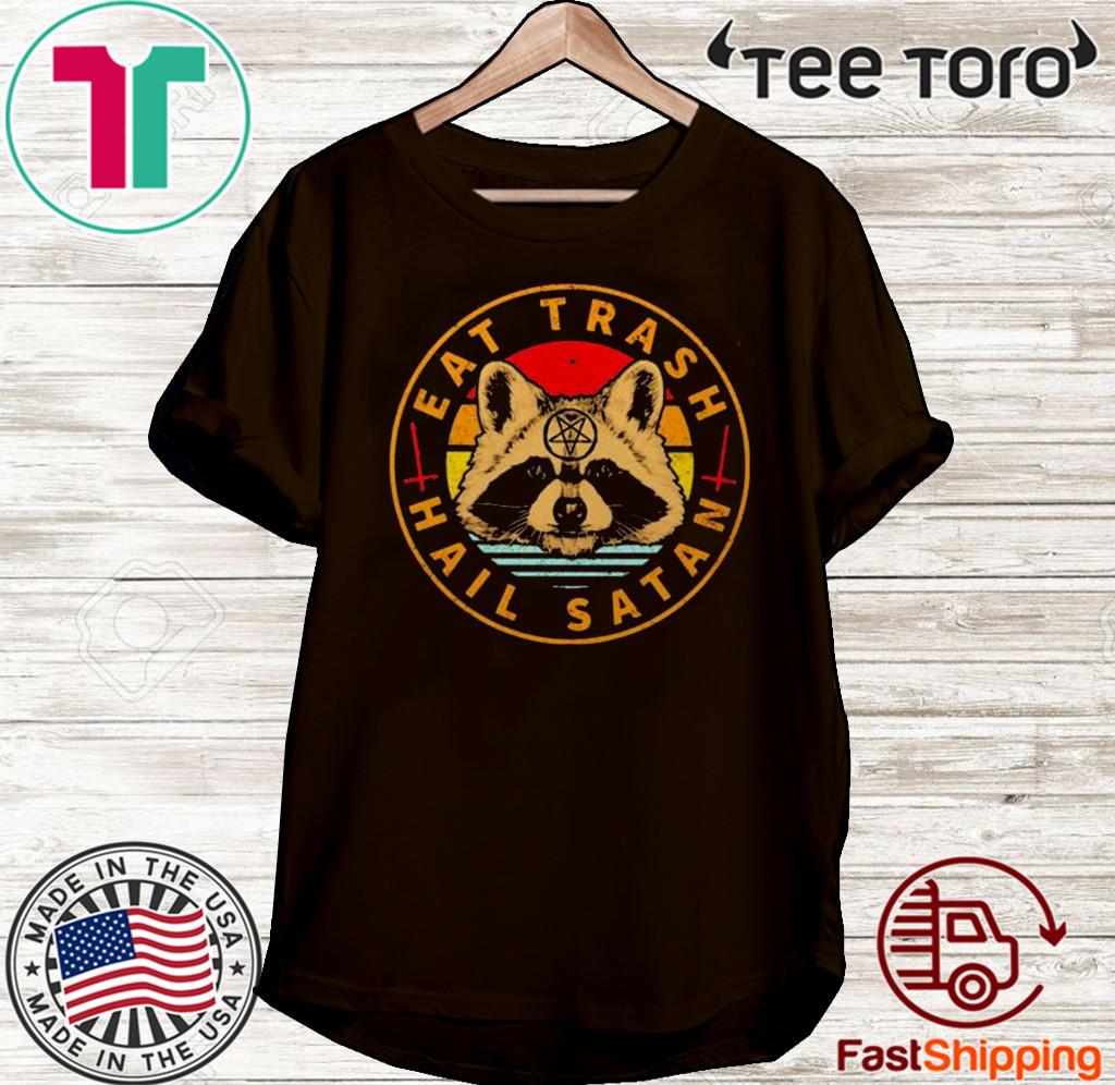 Raccoon Eat Trash Hail Satan Vintage 2020 T-Shirt