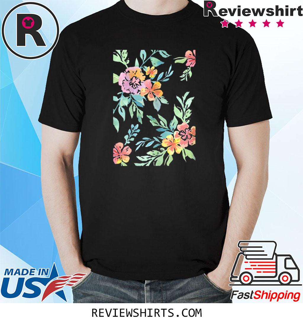 Spring Equinox Pastel Floral Watercolor Vintage Motif Shirt