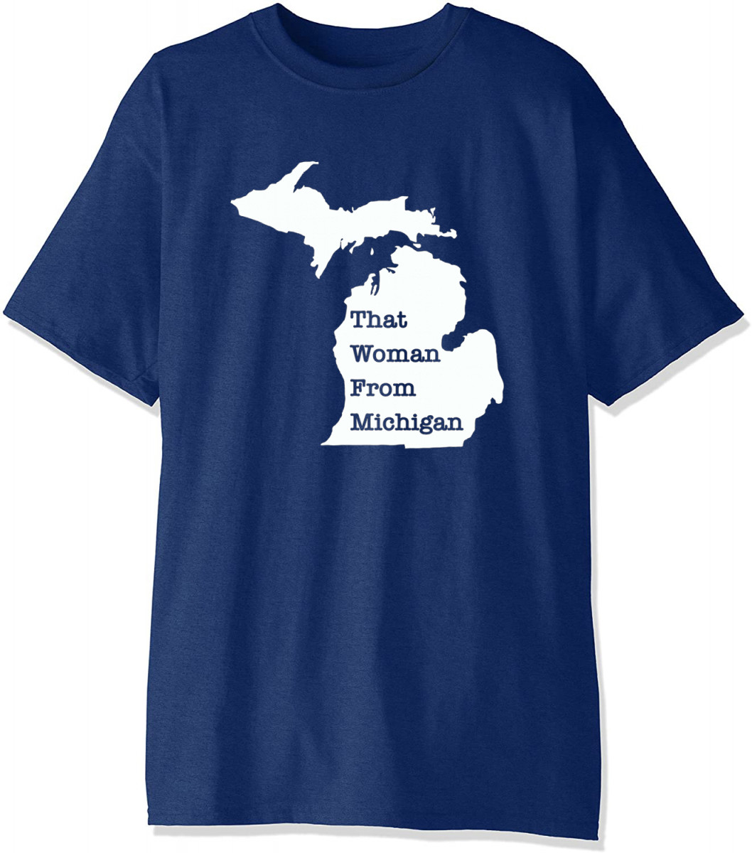 Official That Woman From Michigan Map TShirt
