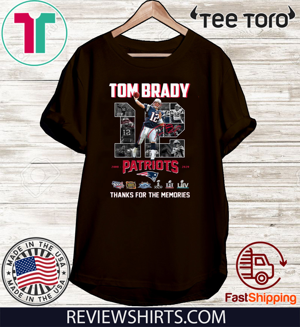 Tom Brady thank you for the memories Shirts
