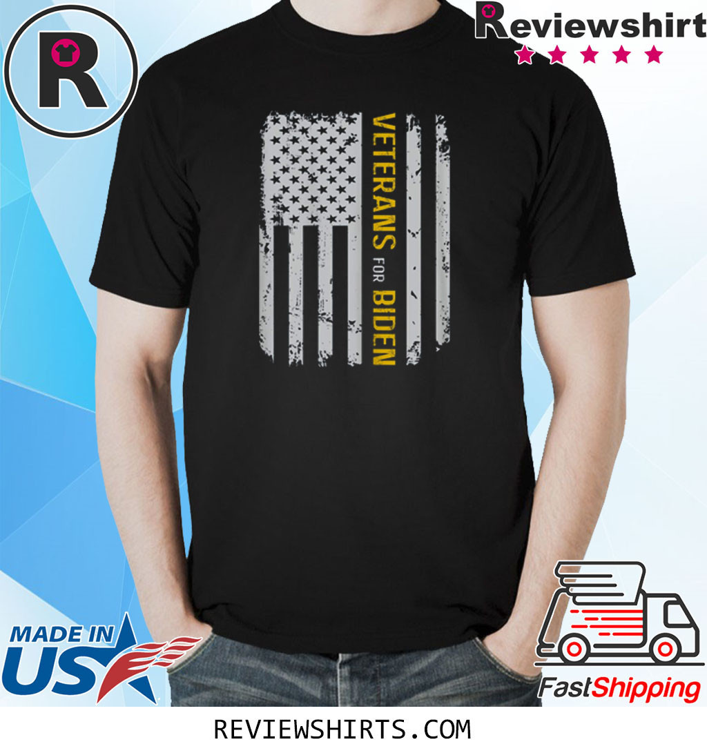 US Flag Veterans Election For Biden Veteran Vintage Shirt