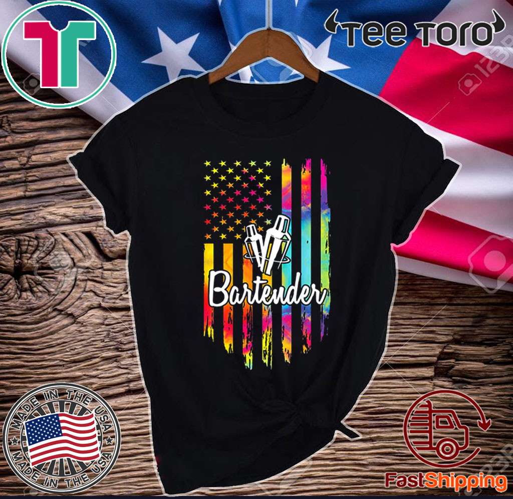 Bartender Flag American USA Vintage Shirt