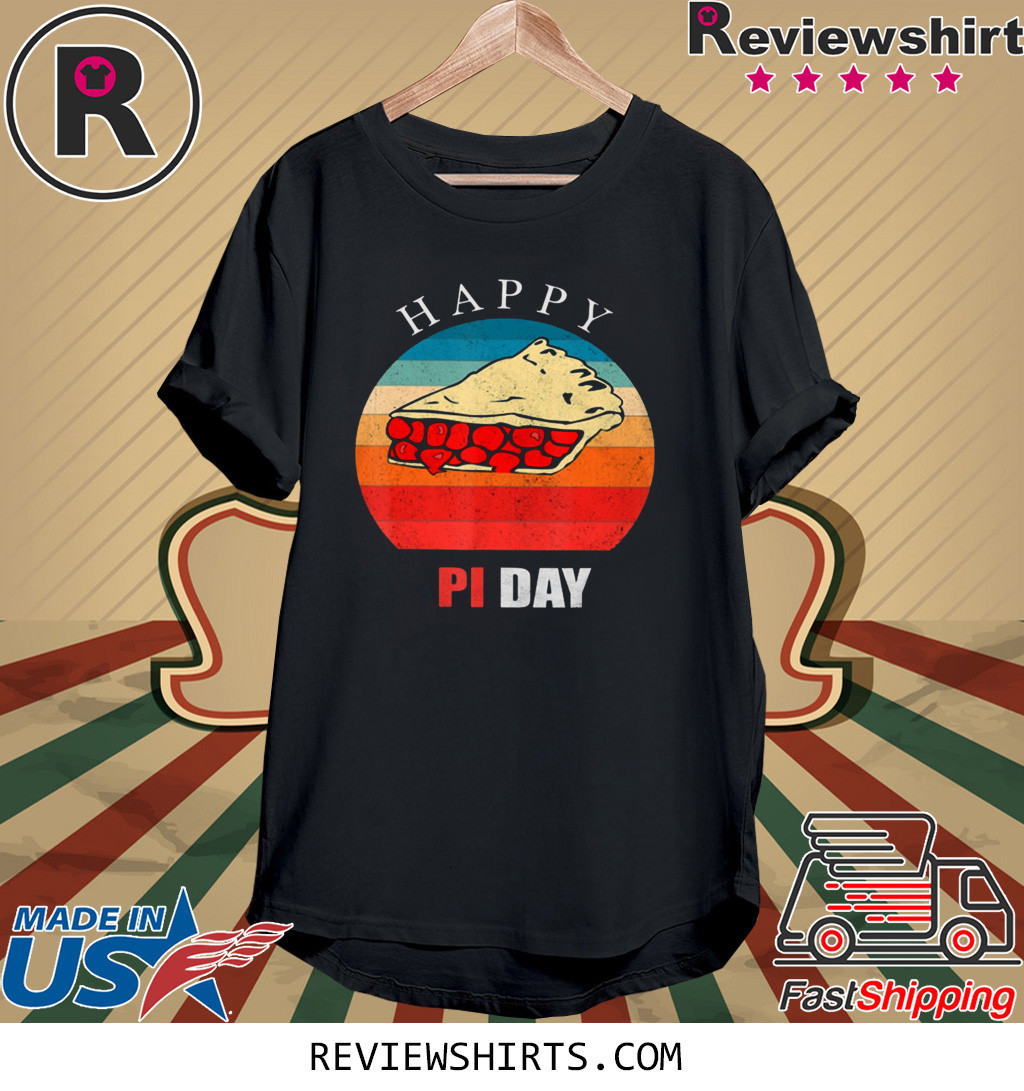 Vintage Pi Day Cherry Pie Math Techer Happy Pi Shirt