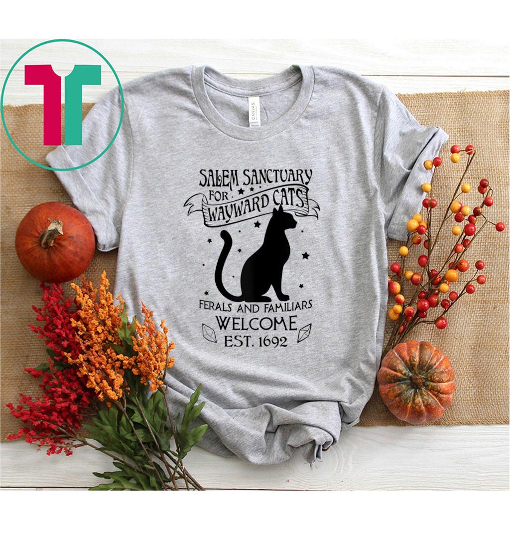 Witch Salem Sanctuary For Wayward Black Cats 1692 T-Shirt