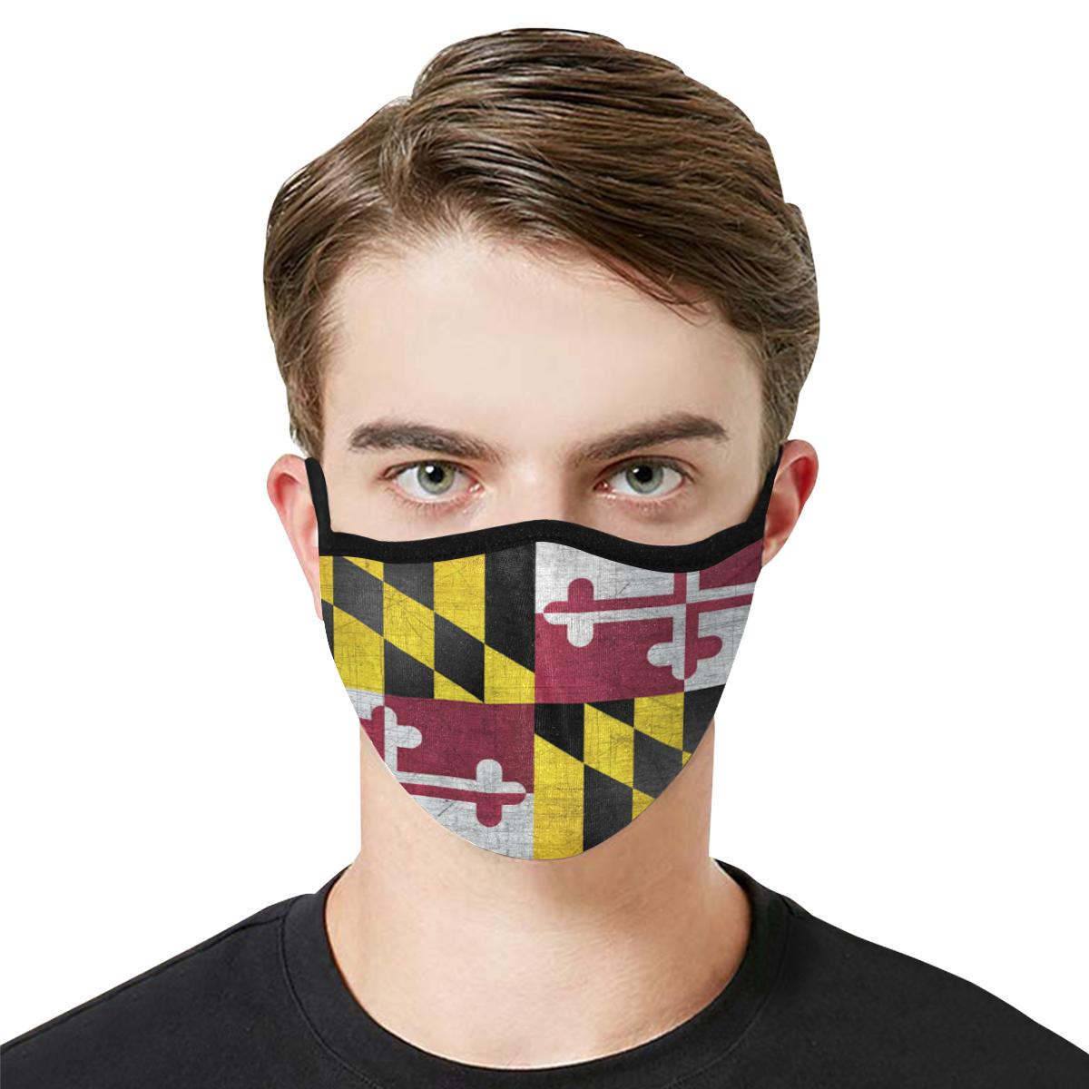 Maryland Flag Face Mask - Adults Mask PM2.5