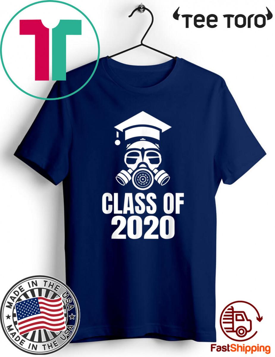 Class of 2020 Quarantine Seniors Gas Mask Shirts