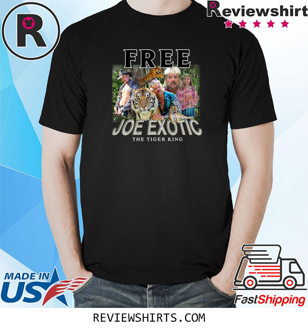 Free Joe Exotic The Tiger King Carole Baskin Shirt