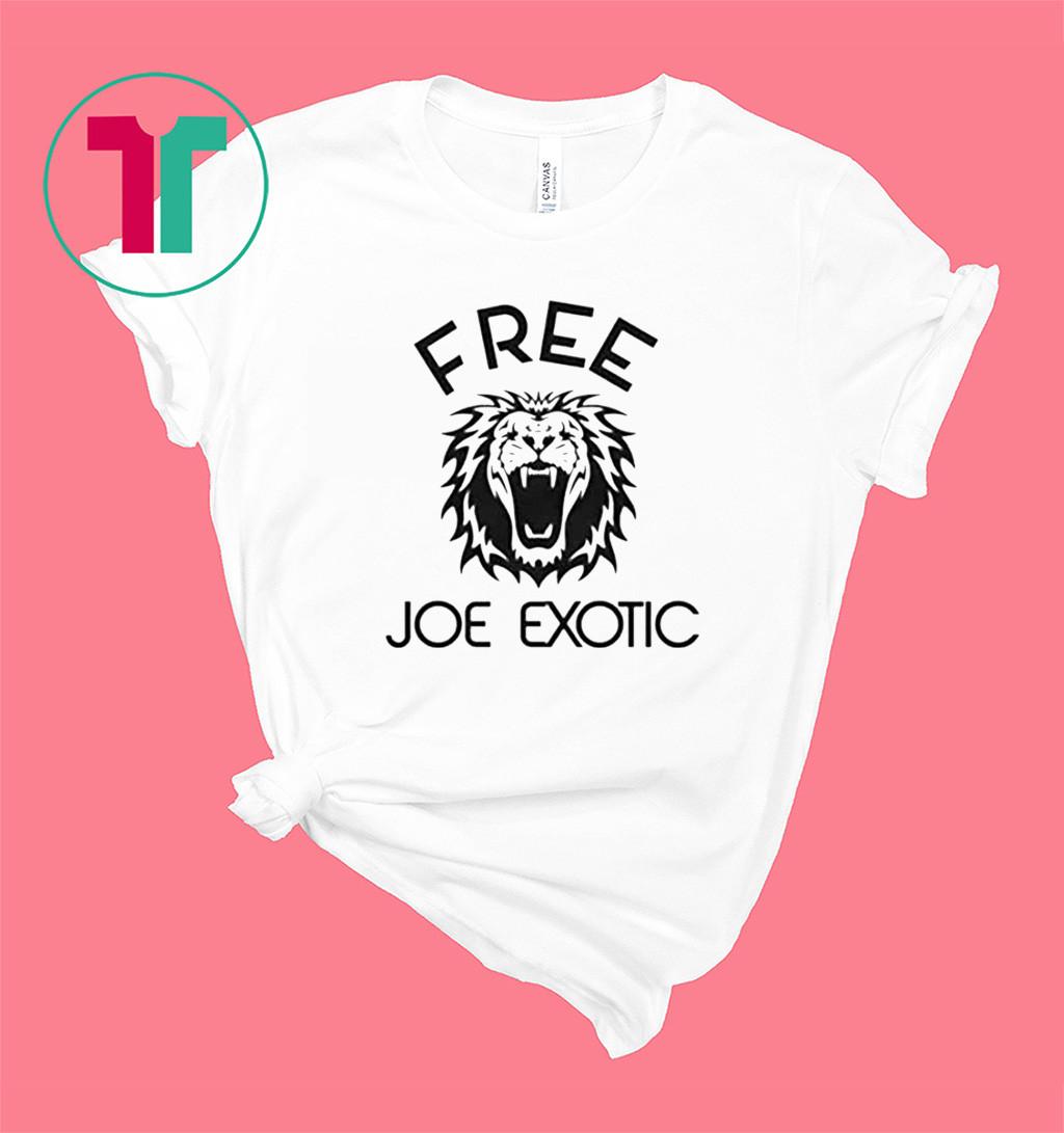 Free Joe Exotic Tiger King Shirt Tshirt T-Shirt
