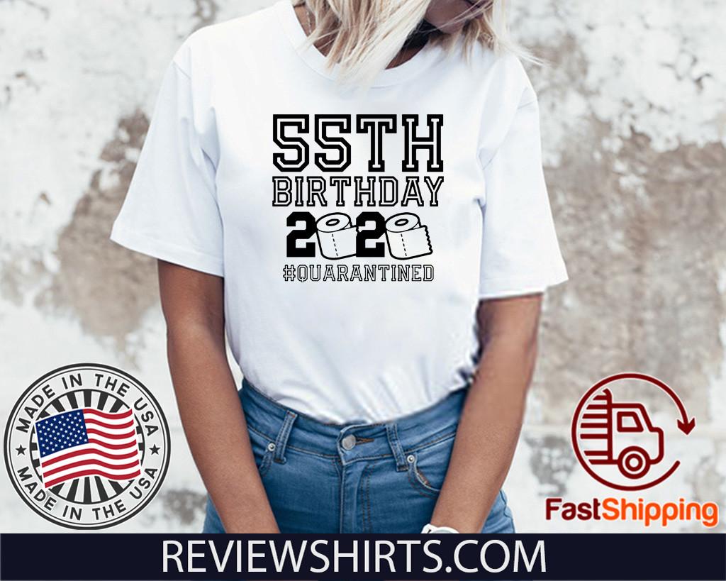 55th Birthday Shirt, Quarantine Shirt, The One Where I Was Quarantined 2020 Shirt