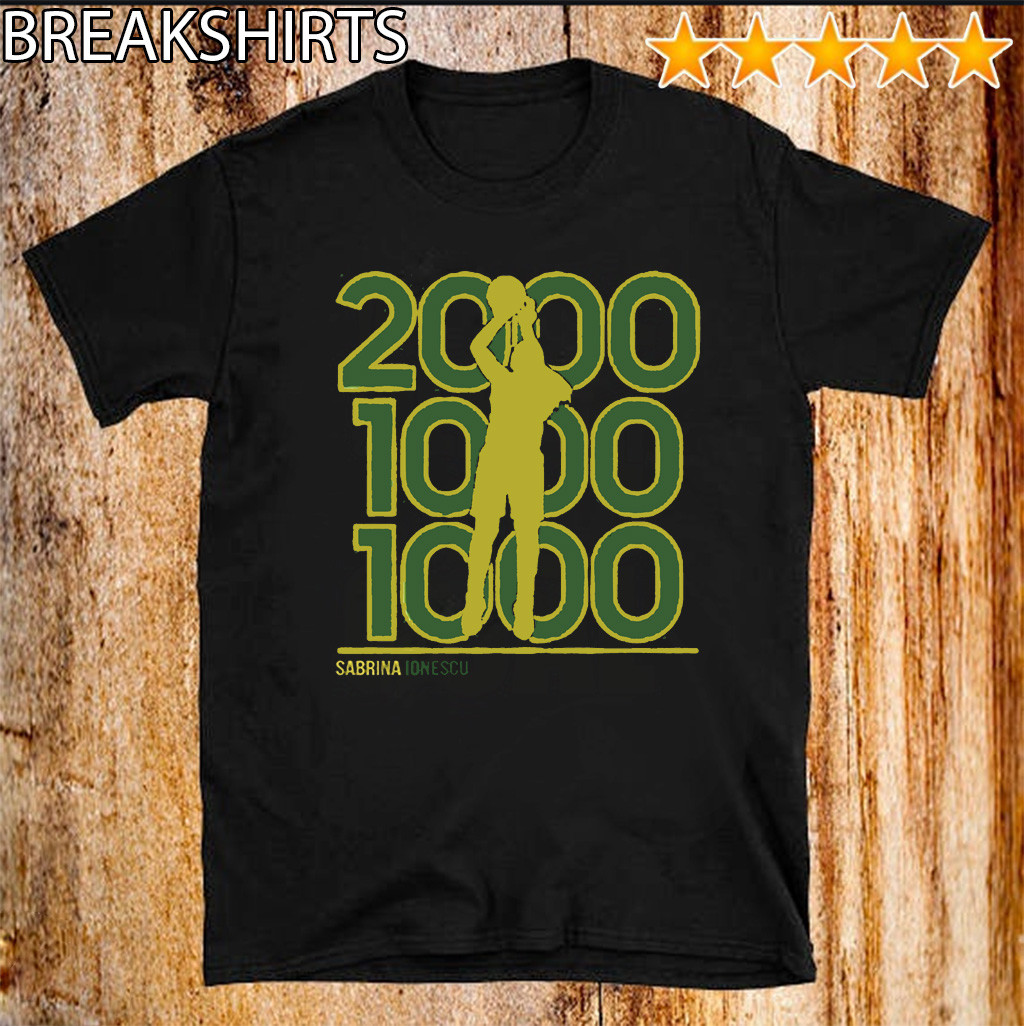 Sabrina Ionescu 2,000-1,000-1,000 Club Shirt