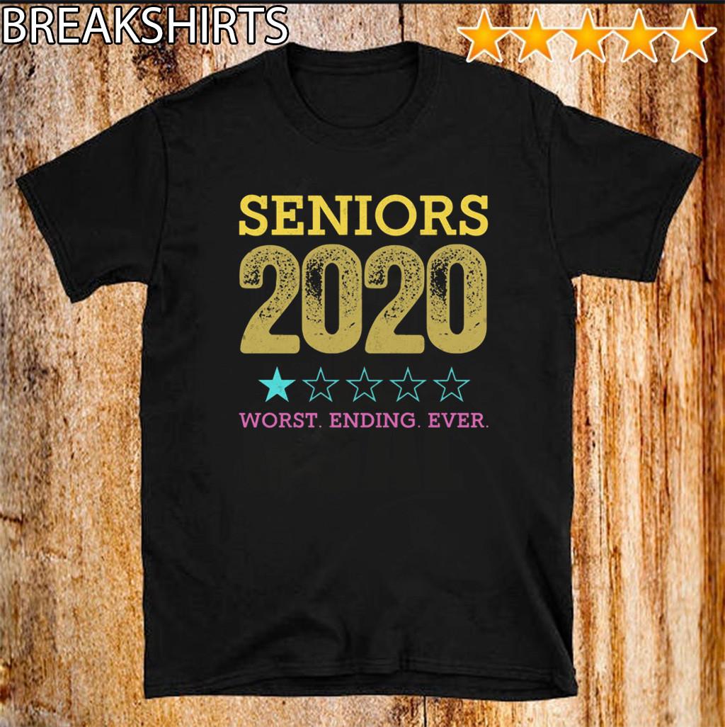Class Of 2020 Graduation Quarantined Tee Shirts - Seniors 2020 Worst Ending Ever Shirt -