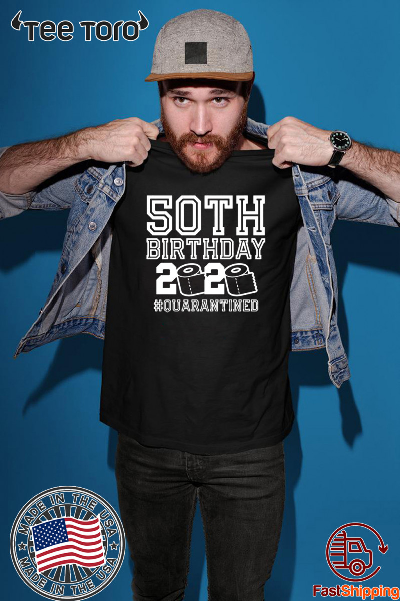 Official 50th Birthday Shirt, Quarantine Shirt, The One Where I Was Quarantined 2020 T-Shirt