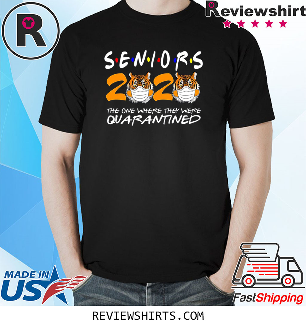 Tiger King Joe Exotic Seniors 2020 T-Shirt The One Where They were Quarantined T-Shirt