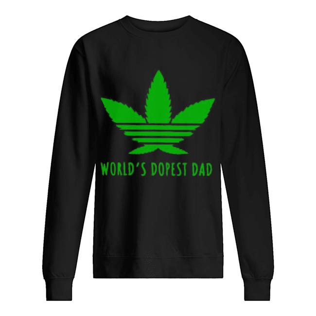 Adidas Weed Cannabis World's Best Dad  Unisex Sweatshirt