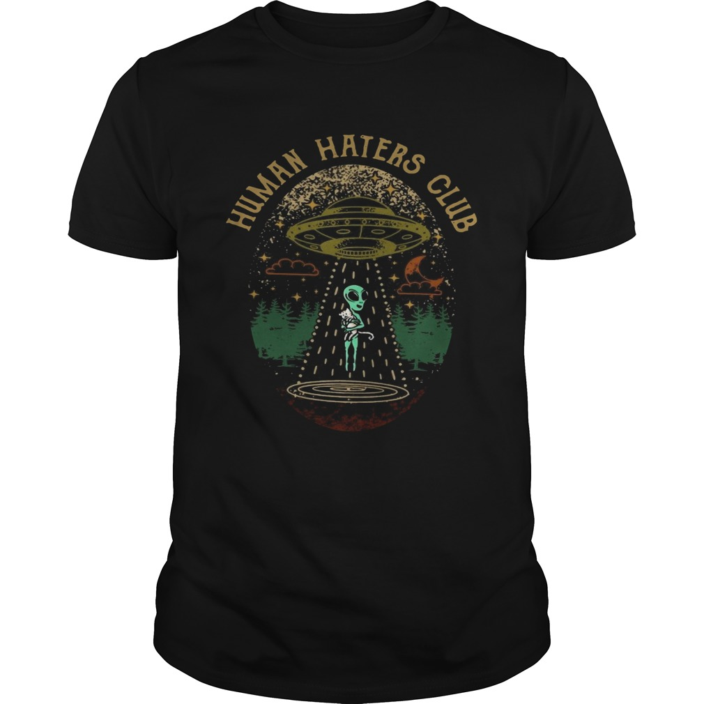 Alien Holding A Cat Human Haters Club  Unisex