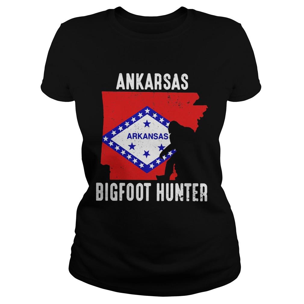 Arkansas bigfoot hunter flag  Classic Ladies