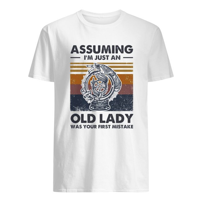 Assuming I'm just an old lady was your first mistake vintage  Classic Men's T-shirt