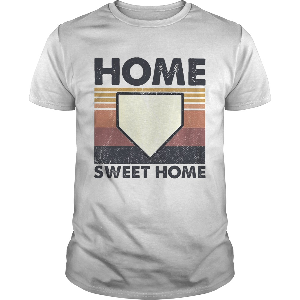 Baseball Home Sweet Home Vintage  Unisex