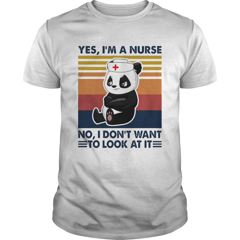 Bear panda yes Im a nurse no I dont want to look at it vintage  Unisex