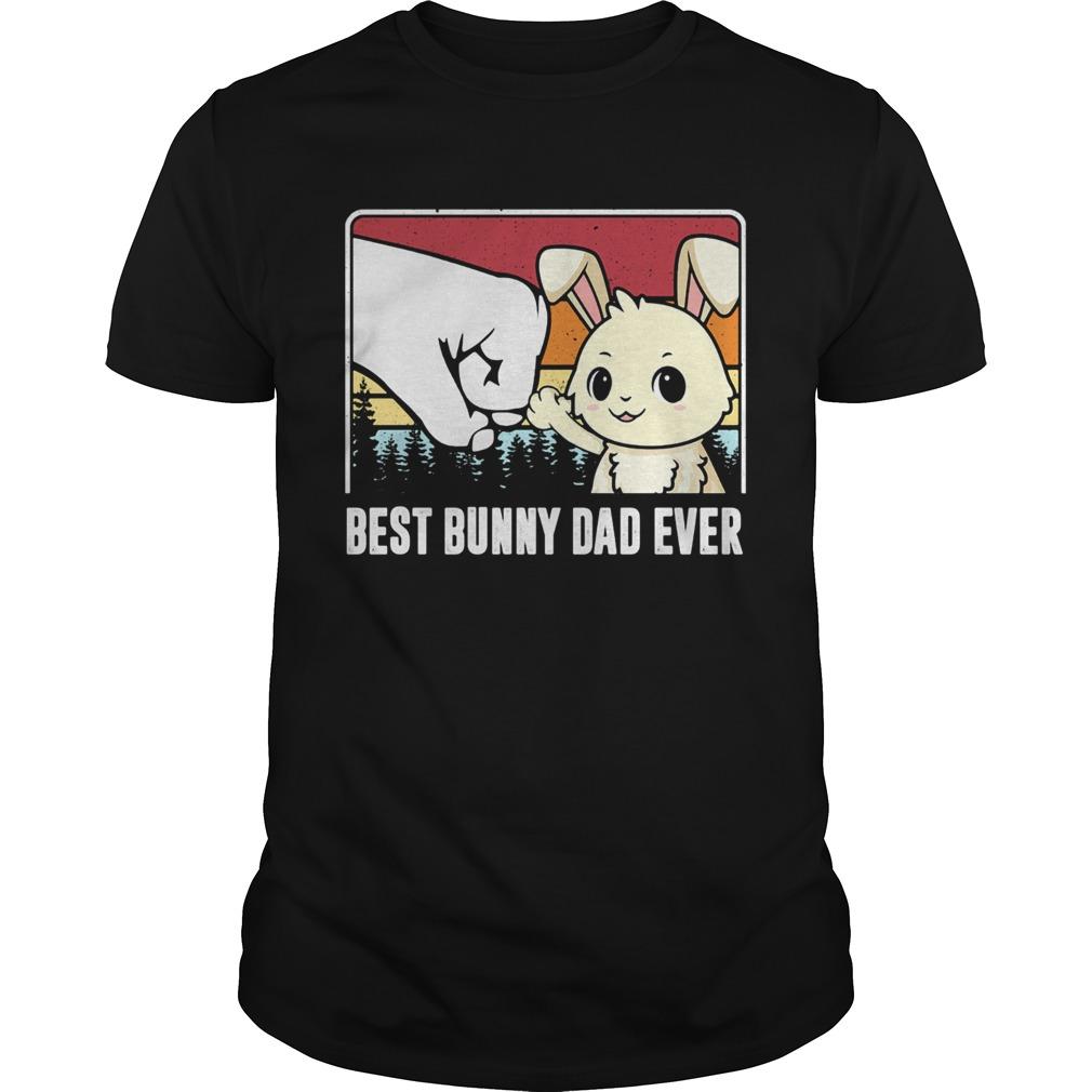 Best bunny dad ever vintage  Unisex