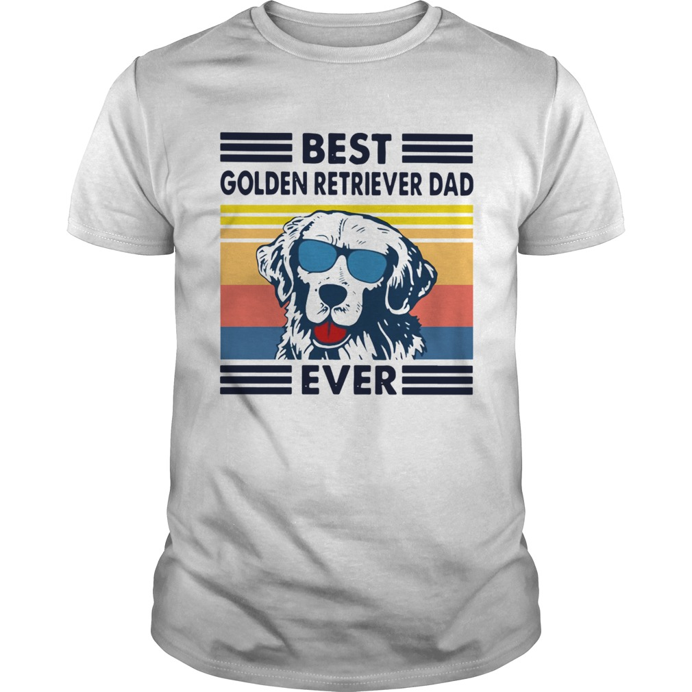 Best Golden Retriever Dad Ever Vintage  Unisex