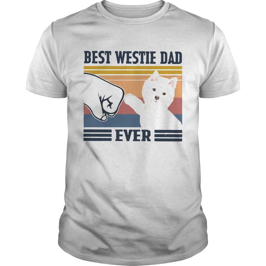 Best Westie Dad Ever Vintage  Unisex