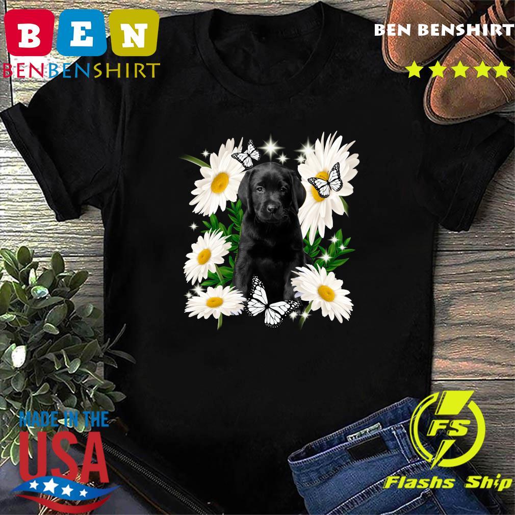 Black Labs Daisy flower Classic T-Shirt