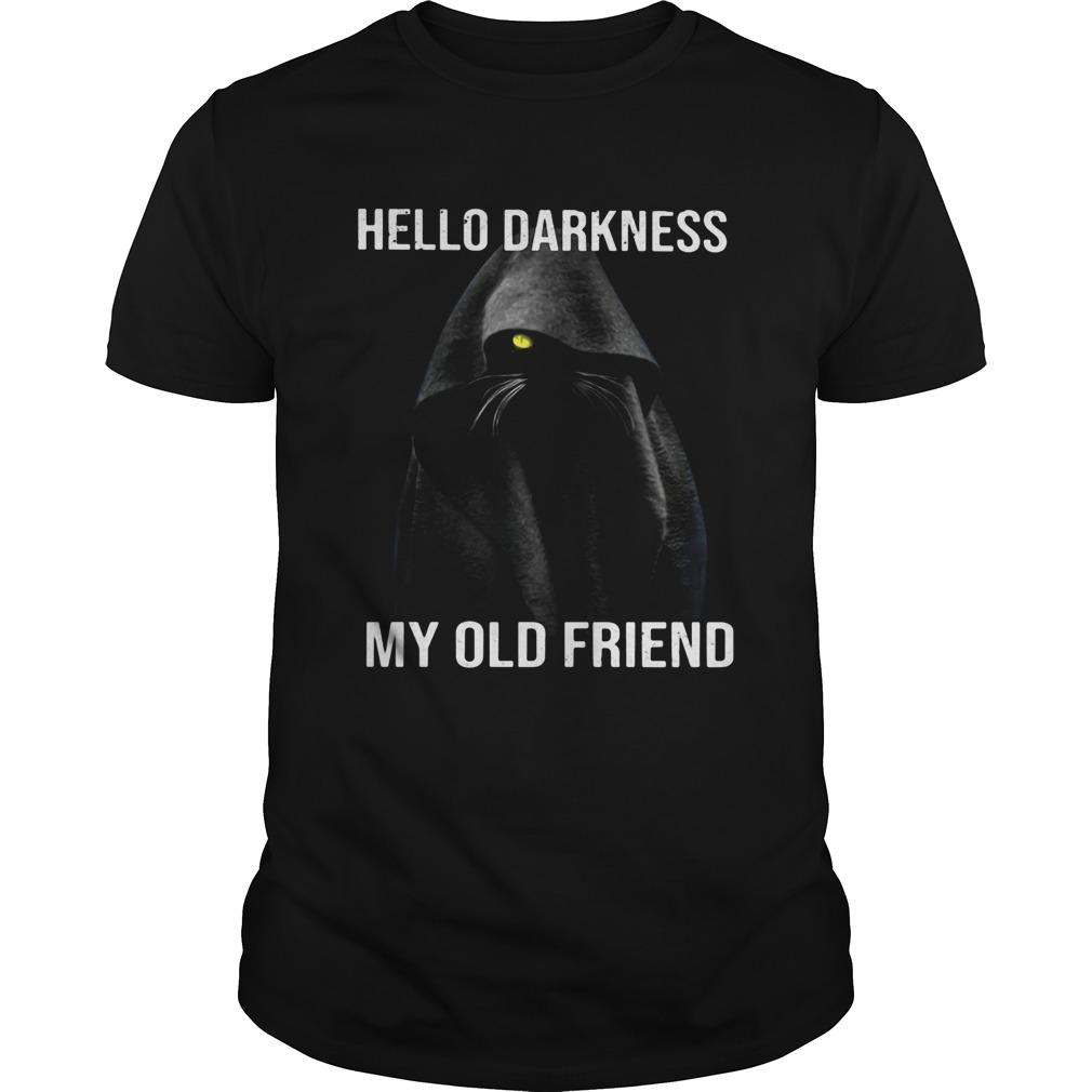 Cat black hello darkness my old friend  Unisex