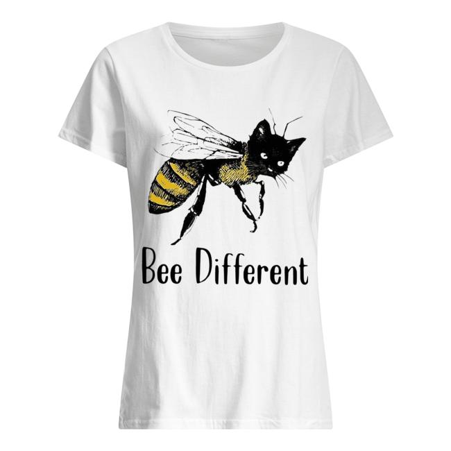 Cat Graphic Bee Diffirent  Classic Women's T-shirt