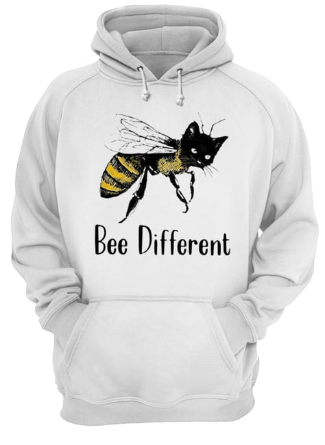Cat Graphic Bee Diffirent  Unisex Hoodie