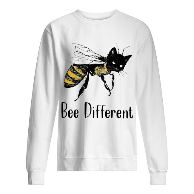 Cat Graphic Bee Diffirent  Unisex Sweatshirt