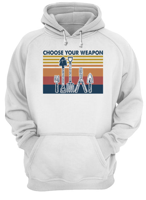 Choose your weapon vintage  Unisex Hoodie