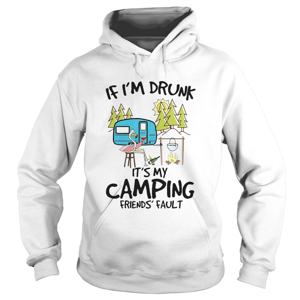 Flamingo If Im Drunk Its My Camping Friends Fault  Hoodie