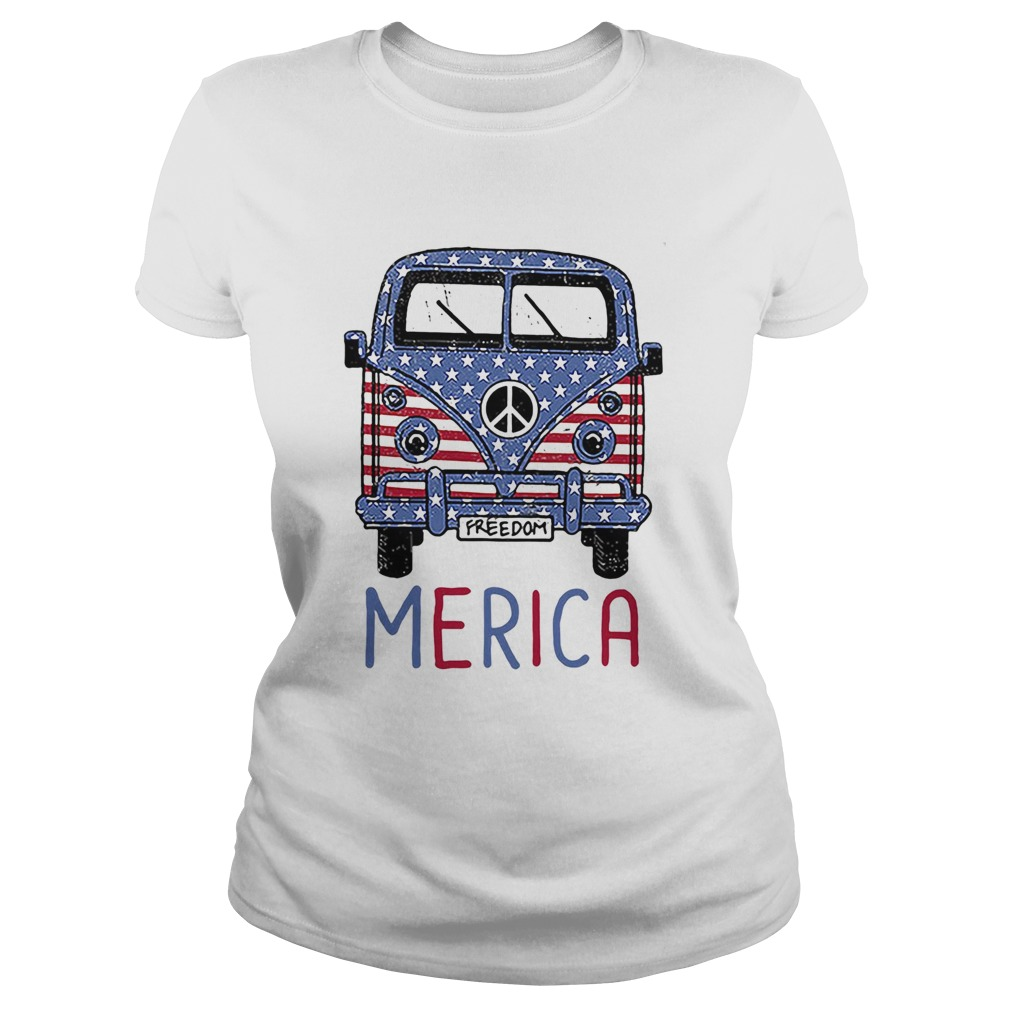 Freedom Merica American flag veteran Independence Day  Classic Ladies