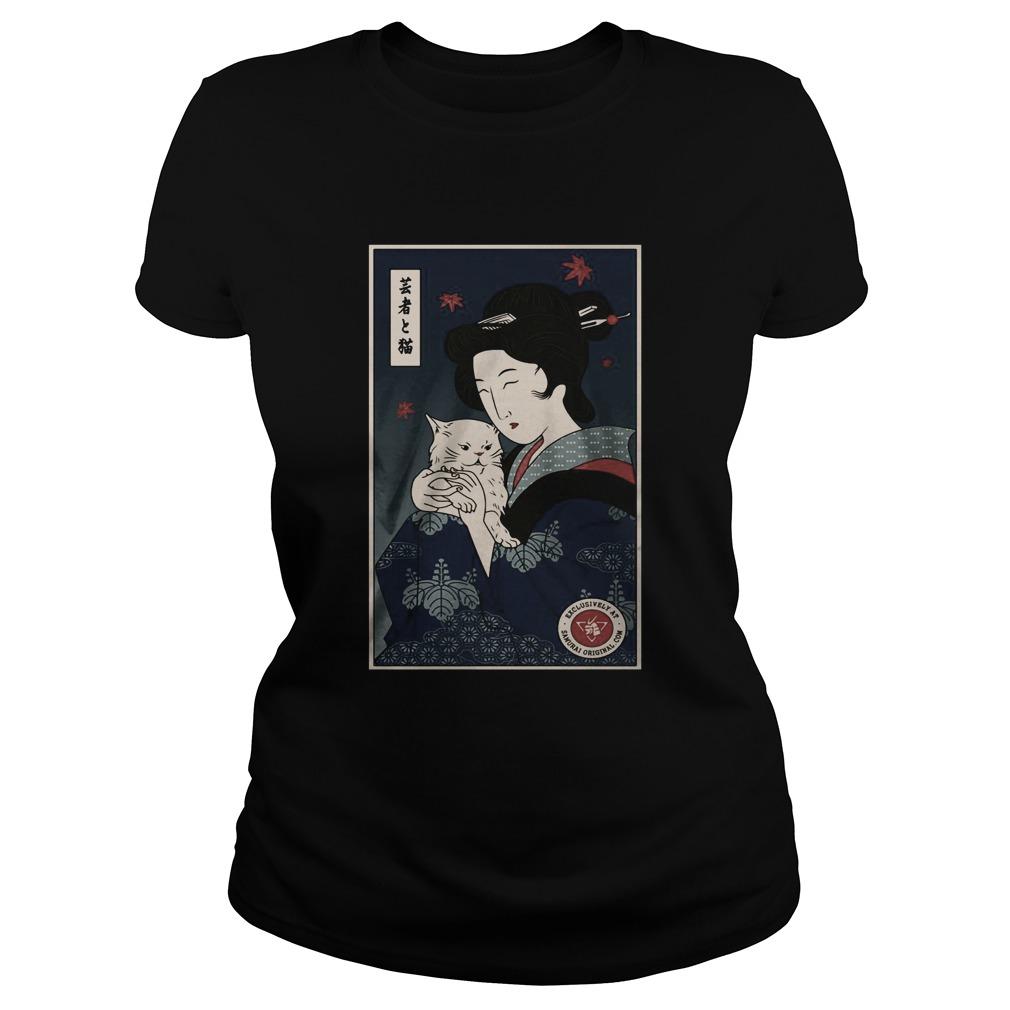 Geisha Hug Cat  Classic Ladies