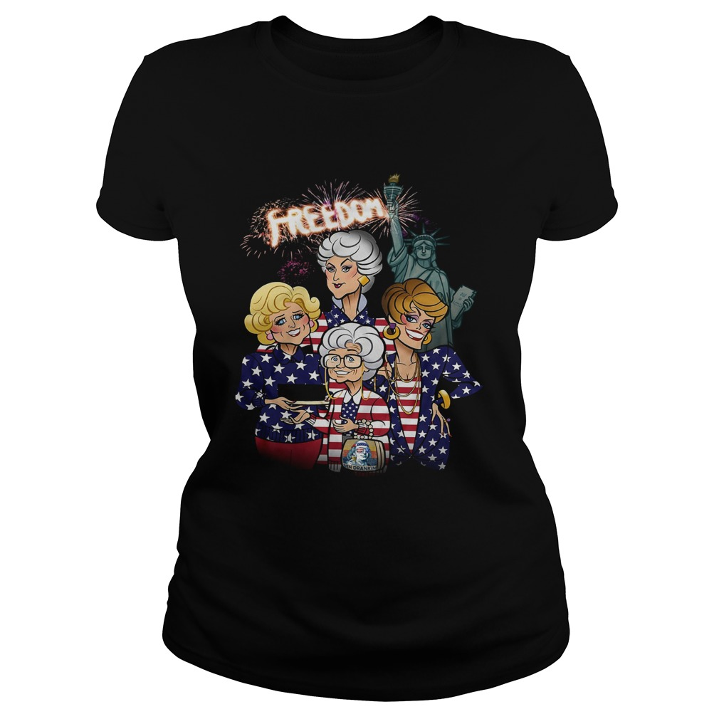 Golden Girls Freedom American Flag Day  Classic Ladies