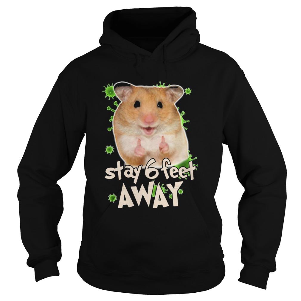 Hamster stay 6 feet away coronavirus  Hoodie