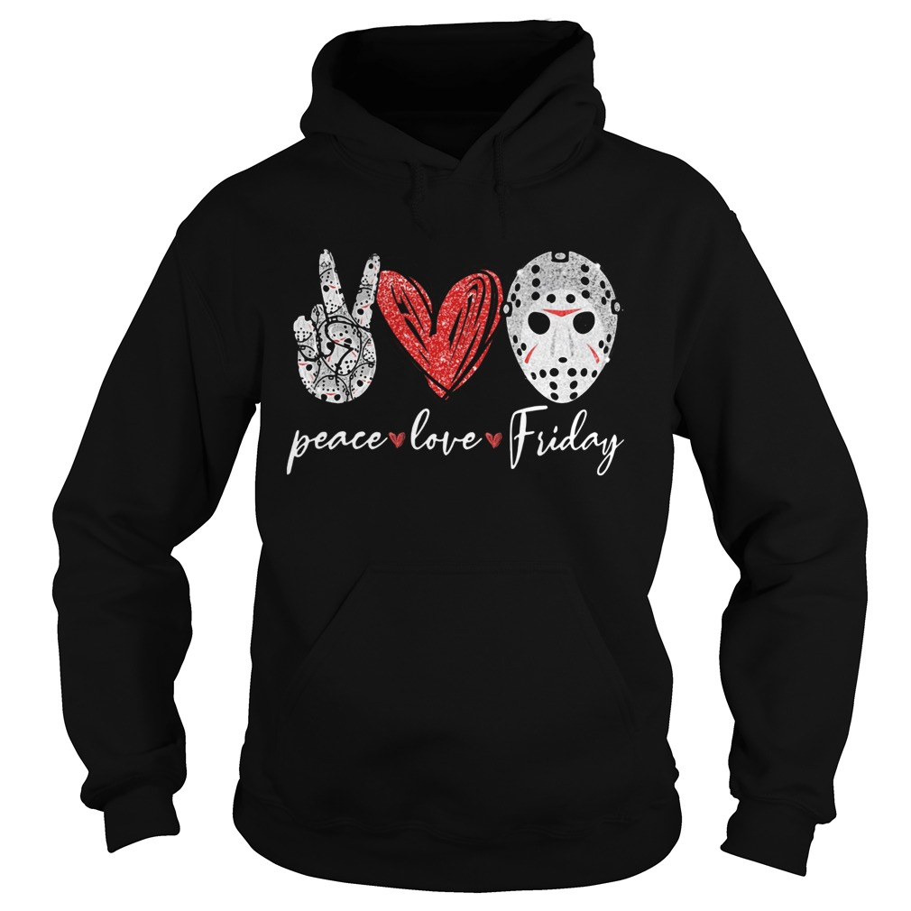 Jason Hockey Peace Love Friday  Hoodie