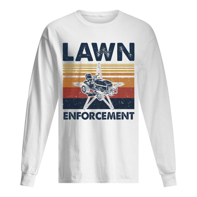 Lawn enforcement vintage  Long Sleeved T-shirt